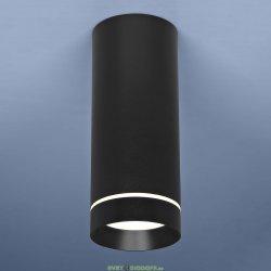 Накладной точечный светильник DLR022 12W 4200K черный матовый