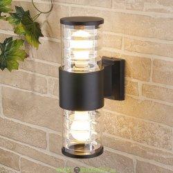 Настенный уличный светильник двухсторонний Е27 cерый