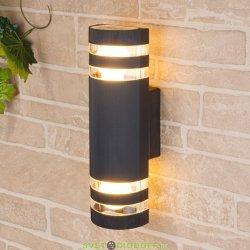 Настенный уличный светильник двухсторонний Е27 черный