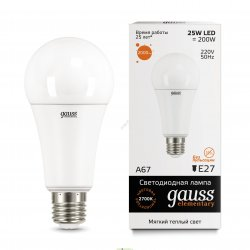 Лампа светодиодная Gauss LED Elementary A67 25W E27 2700K