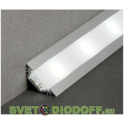 Алюминиевый профиль для светодиодных лент SD-252, 2000х30х10,5мм