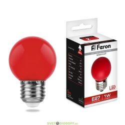 Лампа светодиодная LB-37 (1W) 230V E27 2700K 70*45mm шарик Теплый белый