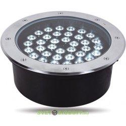 Светильник тротуарный, 36LED холодный белый, 36W, 300*H95mm, внутренний диаметр: 240mm, IP 67, SP2703