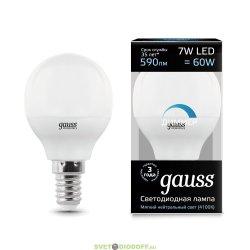Диммируемая светодиодная лампа Gauss LED Globe-dim E14 7W 4100К