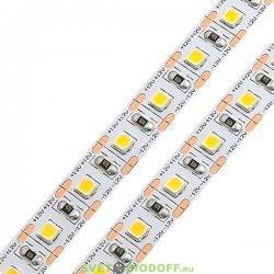Лента светодиодная стандарт SMD 2835, 100 LED/м, 24 Вт/м, 12В , IP20, Нейтральный белый