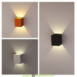 Бра настенное один луч под светодиодную лампу 1* GX53 (выбор лампы от 3вт до 10вт) 100х100х90 Белый Ecola GX53-N51