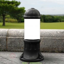 Столб фонарный уличный Fumagalli SAURO 500 черный/опал 0,5м