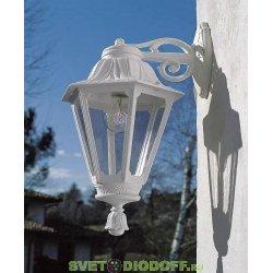 Уличный настенный светильник Fumagalli Bisso/Anna белый, прозрачный экран