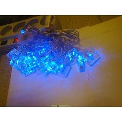 Гирлянда кубики-льдинки 20 синих светодиодов