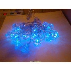 Гирлянда кристаллы 20 синих светодиодов