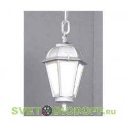 Уличный подвесной светильник Fumagalli Sichem/Saba белый, молочный 1xE27 LED-FIL с лампой 800Lm, 2700К