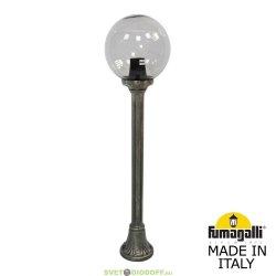 Столб фонарный уличный Fumagalli Mizar/GLOBE 250 черненная бронза, дымчатый 1,0м