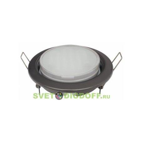 Светильник под светодиодную лампу Ecola GX53 H4 светильник встраив. без рефл. Черный матовый 38x106 (к+)