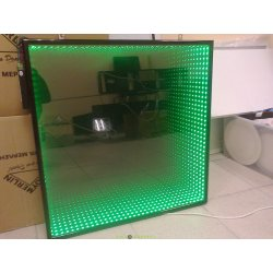 """Панно зеркальное с эффектом """"Бесконечности"""" RGB 600х60040мм"""