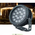 Ландшафтно-архитектурный светодиодный прожектор угол 24 градуса D180xH230, IP65 18W 85-265V, 2700К