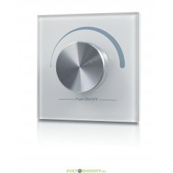 Радио панель диммер W-DIM (W) встраиваемая в стену с валкодером на 1 зону, белая