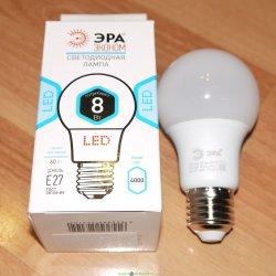 Лампа светодиодная ЭРА LED smd P45-8w-827-E14 ECO