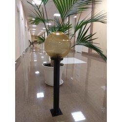 Светильник садовый опора 600мм металл, светильник РММА ШАР 250мм золото с огранкой 0,8м