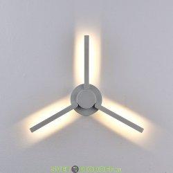 Уличный настенный светодиодный светильник Лопасть, 9Вт, IP54, 760Лм, 3000К, белый