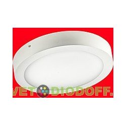 Светильник светодиодный накладной Ecola LED downlight накладной Круглый даунлайт с драйвером 12W 220V 4200K