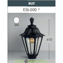 Венчающий светильник на столб RUT черный/прозрачный 1xE27 LED-FIL с лампой 800Lm, 2700К