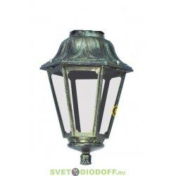 Венчающий светильник ANNA Fumagalli античная медь/прозрачный рассеиватель 1xE27 LED-FIL с лампой 800Lm, 2700К