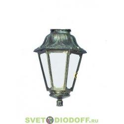 Венчающий светильник ANNA Fumagalli античная медь/молочный рассеиватель 1xE27 LED-FIL с лампой 800Lm, 2700К