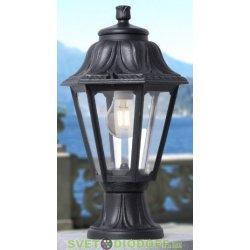Уличный садовый светильник Fumagalli Mikrolot/Anna Черный, прозрачный 1xE27 LED-FIL с лампой 800Lm, 4000К