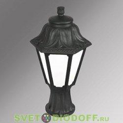 Уличный садовый светильник Fumagalli Mikrolot/Anna Черный, матовый плафон 1xE27 LED-FIL с лампой 800Lm, 4000К