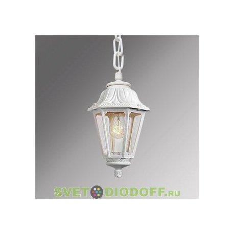 Уличный подвесной светильник Fumagalli Sichem/Anna белый, прозрачный 1xE27 LED-FIL с лампой 800Lm, 4000К