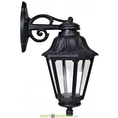 Уличный настенный светильник Fumagalli Bisso/Anna черный, прозрачный экран 1xE27 LED-FIL с лампой 800Lm, 4000К