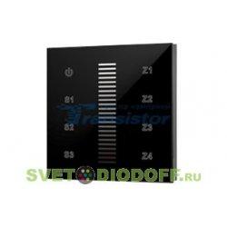 Диммер беспроводный панель Sens SR-2830A-RF-IN Black (220V,DIM,4 зоны)
