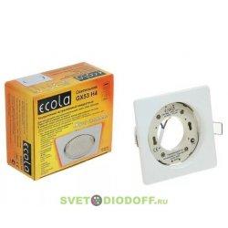 Светильник Ecola GX53 H4 Square open edge квадратный Белый с открытым краем 106x41
