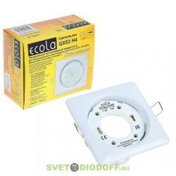 Светильник Ecola GX53 H4 Square квадратный без рефл. Белый 107x41 (к+)