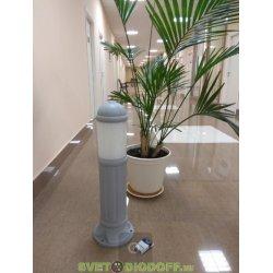 Столб фонарный уличный Fumagalli SAURO 800 Е27 серый/опал 0,8м