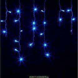 Гирлянда Айсикл (бахрома) светодиодный, 1,8 х 0,5 м, прозрачный провод, 230 В, диоды синие NEON-NIGHT