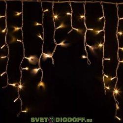 Гирлянда Айсикл (бахрома) светодиодный, 1,8 х 0,5 м, прозрачный провод, 230 В, диоды белые NEON-NIGHT
