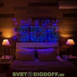 """Гирлянда """"Светодиодный Дождь"""" 1,5х1м, свечение с динамикой, прозрачный провод, 230 В, диоды СИНИЕ NEON-NIGHT"""