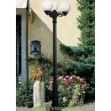 Столб фонарный уличный Fumagalli Ricu Bisso/GLOBE 250 3L черный, шар молочный 2,35м