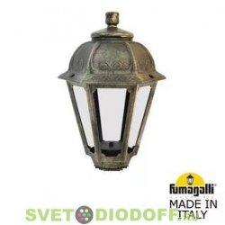 Венчающий светильник SABA Fumagalli античная бронза, прозрачный 1xE27 LED-FIL с лампой 800Lm, 2700К