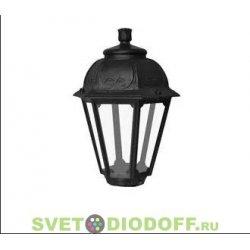 Венчающий светильник SABA Fumagalli черный 1xE27 LED-FIL с лампой 800Lm, 2700К