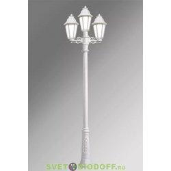 Столб фонарный уличный GIGI bisso/ RUT 2+1L белый, прозрачный 2,30м 3xE27 LED-FIL с лампами 800Lm, 2700К