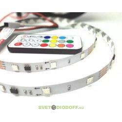 Комплект бегущий огонь Лента SPI-5000-IR21B 12V RGB (5060,150 LED x3,1804, ПДУ)