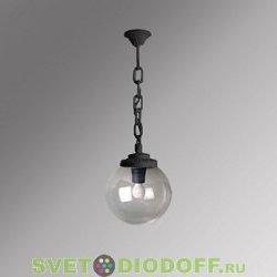 Уличный подвесной светильник Шар Fumagalli Sichem/Globe 300 черный, прозрачный