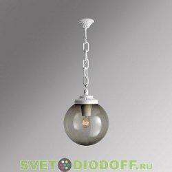 Уличный подвесной светильник Шар Fumagalli Sichem/Globe 300 белый, дымчатый