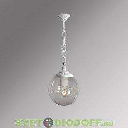 Уличный подвесной светильник Шар Fumagalli Sichem/Globe 300 белый, прозрачный
