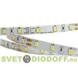 Светодиодная лента ультра холодная 2835/120 600LED 12V, 9,6Вт, холодный белый 10000К