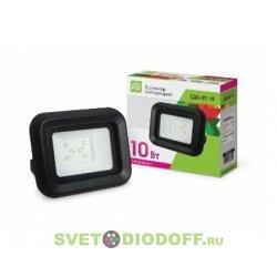 Прожектор СДО-07-20 светодиодный черный IP65 ASD