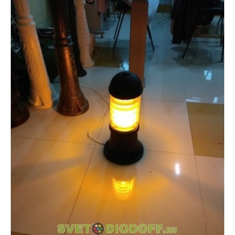 Столб фонарный уличный Fumagalli SAURO 500 черный/прозрачный белый рассеив. 0,5м