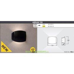 Бра настенное светодиодное двух стороннее Фумагалли ABRAM 150 чёрный, прозр., 1xR7S LED с лампой 4W, 4000К